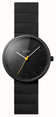 Braun Relógio de vestido de cerâmica preta unisex BN0171BKBKG
