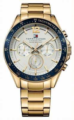 Tommy Hilfiger Mens luke relógio de tom de ouro 1791121