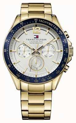 Tommy Hilfiger Relógio de homem luke | capa para pvd | pulseira de aço inoxidável ouro | 1791121