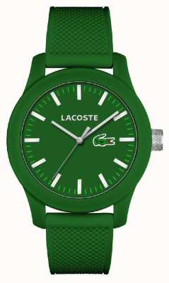 Lacoste Mens 12.12 correia de silicone verde mostrador verde 2010763