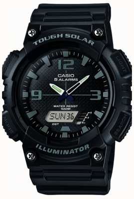 Casio Mens cinco alarme solar powered iluminador preto AQ-S810W-1A2VEF