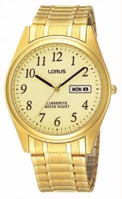 Lorus Bracelete em expansão banhado a ouro RXN98AX9
