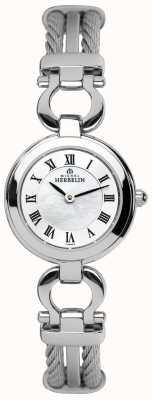 Michel Herbelin Relógio de pulseira de aço para mulheres 17422/B29