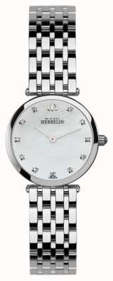 Michel Herbelin Womens epsilon, stone-set, relógio de pérola 1045/B59