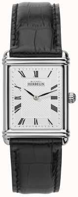 Michel Herbelin Homens, quartzo analógico, pulseira de couro 17468/08