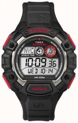 Timex Cronógrafo de alarme de choque mundial de expedição T49973