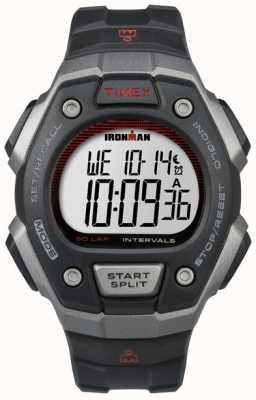 Timex Resina preta clássica de ironman Mens 50 TW5K85900