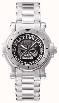Harley Davidson Mens willie g crânio relógio de pulso 76A11