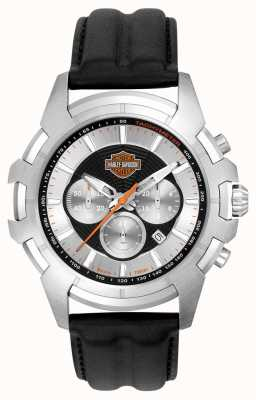 Harley Davidson Design de web de aranha preto e prata 76B161