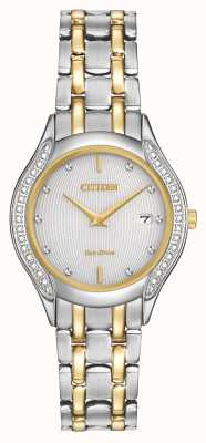 Citizen Womens eco-drive 30 diamante dois tons GA1064-56A
