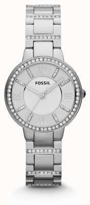 Fossil Aço inoxidável para mulher virgínia ES3282