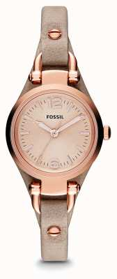 Fossil Womens georgia rosa couro dourado pvd ES3262