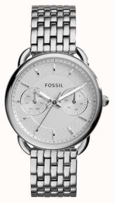 Fossil Alfaiate para mulheres de aço inoxidável ES3712