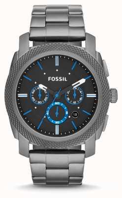 Fossil Metralhadora para homens metal cinza FS4931