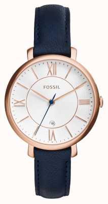 Fossil Couro de pvd dourado rosa jacqueline rosa ES3843