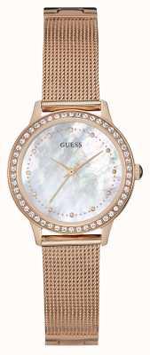 Guess Braguita de malha de ouro rosa chelsea para mulher W0647L2