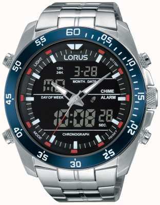 Lorus Homens dual aço inox RW623AX9