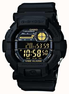 Casio G-shock vibratório 5 alarme relógio preto amarelo GD-350-1BER