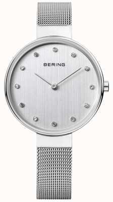 Bering Mulheres | cinta de malha de aço inoxidável | mostrador prateado | 12034-000