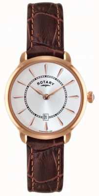 Rotary Senhoras relógios de couro marrom LS02919/03