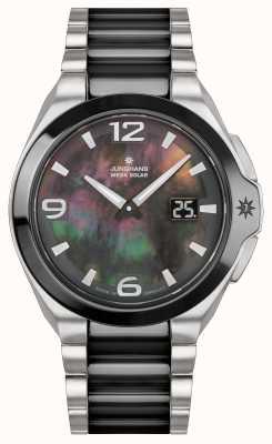 Junghans Spektrum lady | aço inoxidável / pulseira preta | 015/1500.44