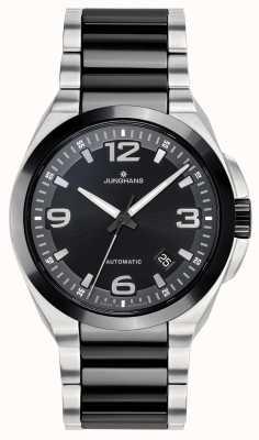 Junghans Spektrum automático | pulseira de aço inoxidável preto / prata | 027/1500.44