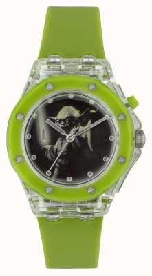 Star Wars Yoda da criança acende o relógio verde YOD3702
