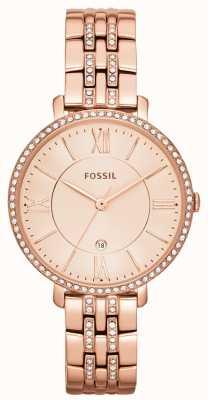 Fossil Conjunto de pedra de pvd de ouro rosa jacqueline para mulher ES3546