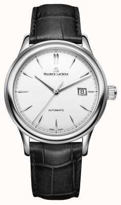 Maurice Lacroix Mens les classiques relógio de marcação de data de prata automático LC6098-SS001-130-1
