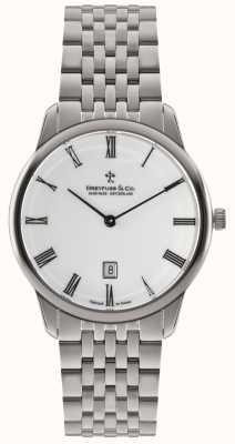 Dreyfuss Mens pulseira de aço inoxidável mostrador branco DGB00135/01