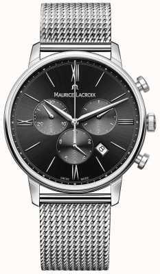 Maurice Lacroix Dial preto preto de homens milanais EL1098-SS002-310-1