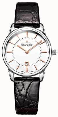 Dreyfuss Relógio de couro feminino de 1980 DLS00135/01