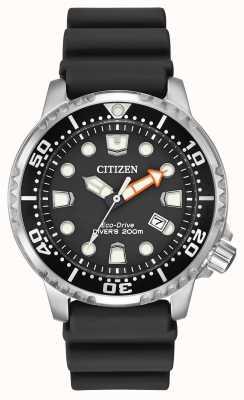 Citizen Eco-drive promaster diver correia de borracha preta BN0150-28E