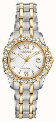 Citizen Eco-drive 28 diamantes duas mulheres EW2364-50A