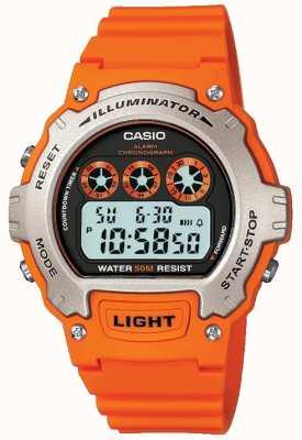 Casio Cronógrafo iluminador unissex com alarme esportivo W-214H-4AVEF