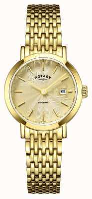 Rotary Relógios para senhoras windsor banhado a ouro LB05303/03
