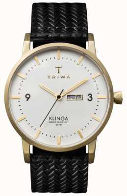 Triwa Klinga de linha branca unisex com alça de couro KLST103-GC010113