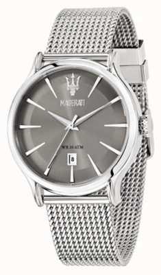 Maserati Bracelete de mostrador cinza Epoca 42mm R8853118002