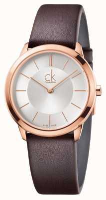 Calvin Klein Estojo de ouro rosa rosa de prata para homens K3M226G6
