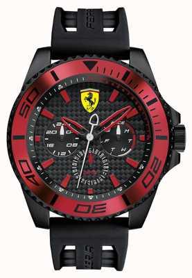 Scuderia Ferrari Bracelete de borracha preto para homens preto discagem detalhe vermelho 0830310