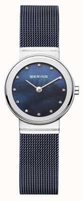 Bering Braille da marinha da mulher mostrador da marinha 10126-307