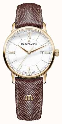 Maurice Lacroix Aliança de couro marrom marrom Eliros EL1094-PVP01-111-1