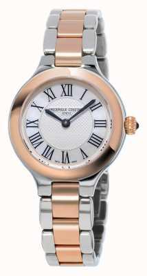 Frederique Constant Bracelete de metal feminino prazeres clássicos rosa banhado a ouro FC-200M1ER32B