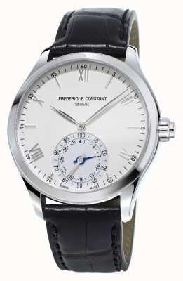 Frederique Constant Serigrafia horological faixa branca de couro preta FC-285S5B6