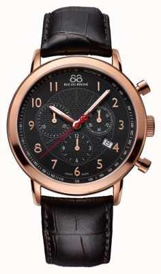 88 Rue du Rhone Mens black rose relógio de ouro mostrador preto 87WA120050