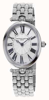 Frederique Constant Bracelete de aço inoxidável oval de art deco feminino FC-200MPW2V6B