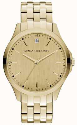 Armani Exchange Dial dourado liso de homens hampton AX2167