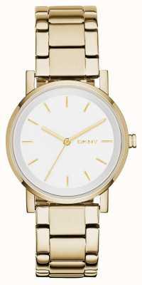 DKNY Alça de ouro em branco com esfera branca para mulher NY2343