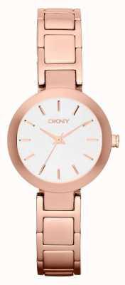 DKNY Pulseira de ouro rosa rosa Womans branco NY2400
