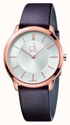 Calvin Klein Alça de couro marrom para homens mínima K3M216G6